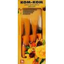 Zestaw 3 sztuk noży do carvingu Kom Kom